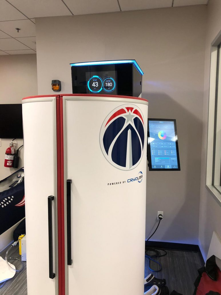 CRYONiQ cryosauna in Washington Wizards training facility