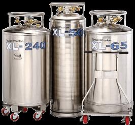Stainless steel pressurized tanks for storage of liquid nitrogen
